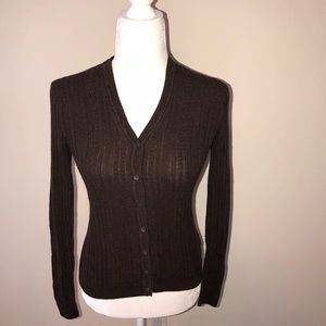 Brooks Brothers brown silk/ cashmere sweater